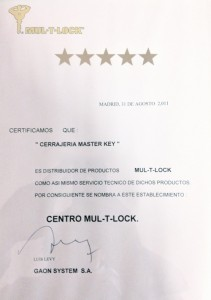 Centro Autorizado Distribuidor MULTLOCK