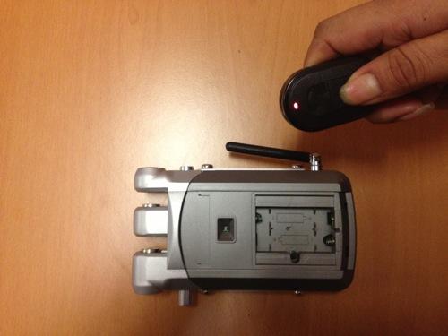 Registro del mando a distancia de la cerradura de seguridad