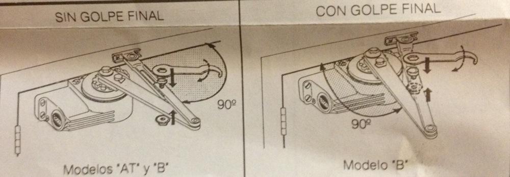 Como ajustar muelle puerta portal